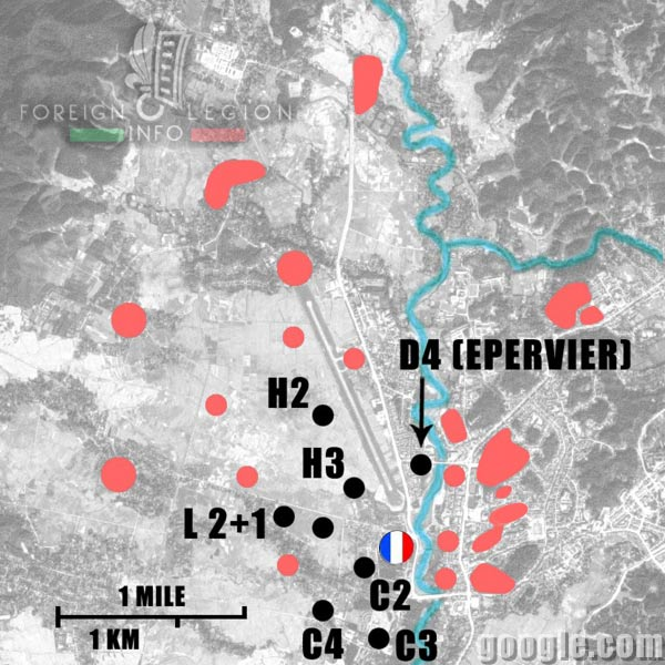 Dien Bien Phu - Eliane 2 - Eliane 3 - Eliane 4 - Eliane 10 - Eliane 11 - Eliane 12 - 1954 - First Indochina War