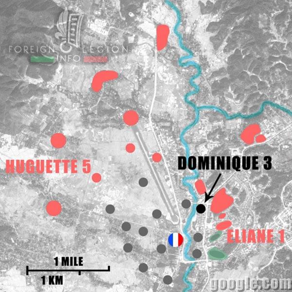 Dien Bien Phu - Dominique 3 - Map - 1954 - First Indochina War