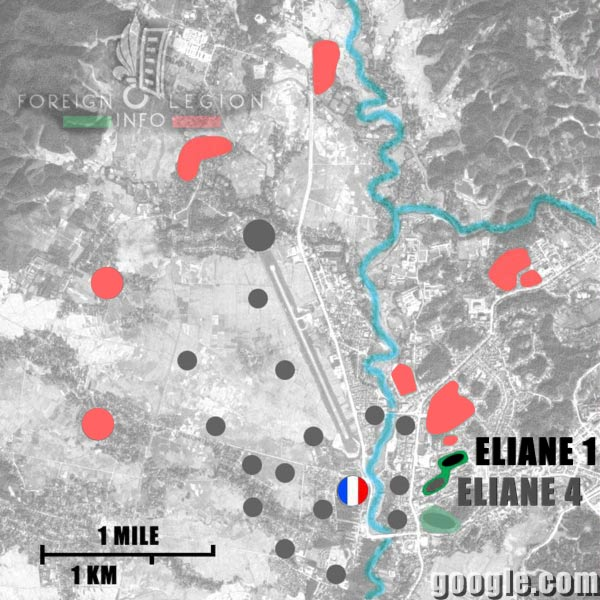 Dien Bien Phu - Eliane 1 - Map - 1954 - First Indochina War