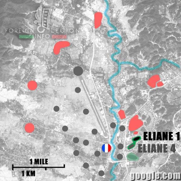 Dien Bien Phu - Eliane 1 - Map - 1954 - First Indochina War