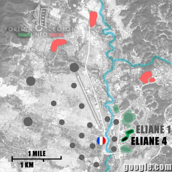 Dien Bien Phu - Eliane 4 - Map - 1954 - First Indochina War