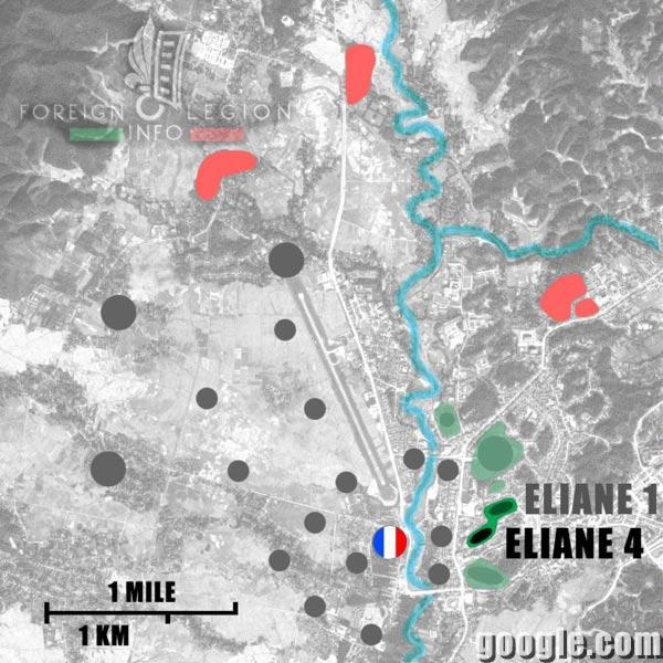 Dien Bien Phu - Eliane 4 - Map - 1954 - First Indochina War