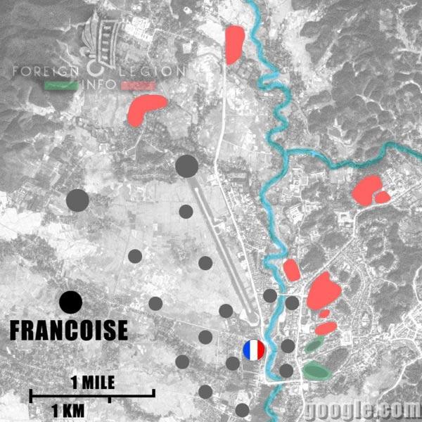 Dien Bien Phu - Francoise - Map - 1954 - First Indochina War