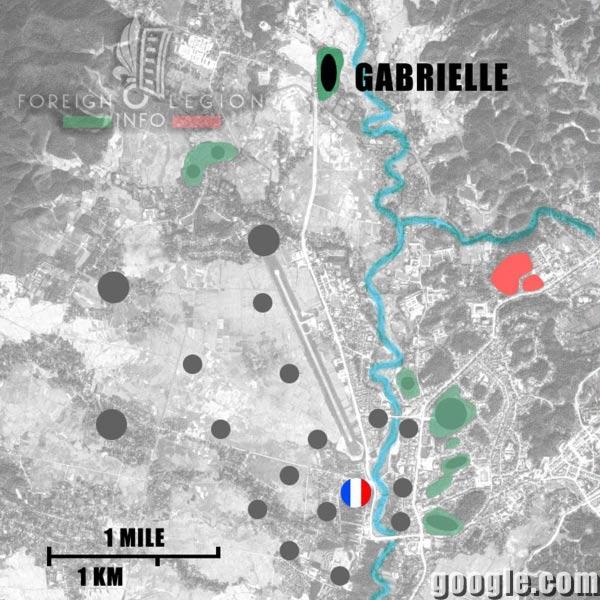 Dien Bien Phu - Gabrielle - Map - 1954 - First Indochina War