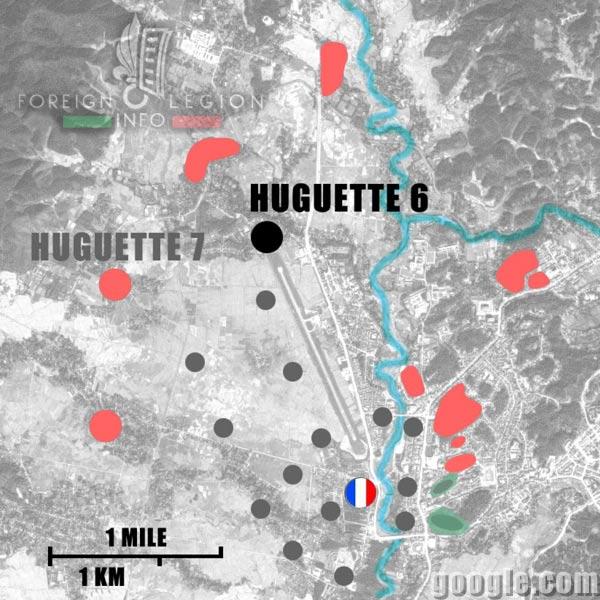 Dien Bien Phu - Huguette 6 - Map - 1954 - First Indochina War