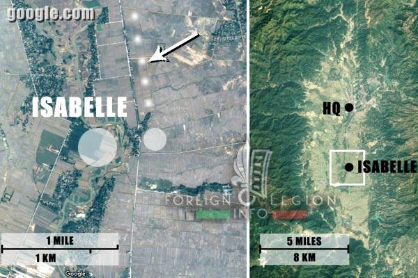 Dien Bien Phu - 1954 - Isabelle - Map - First Indochina War