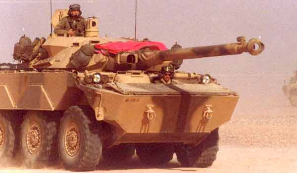 AMX 10 RC of the 1er REC in Iraq in 1990