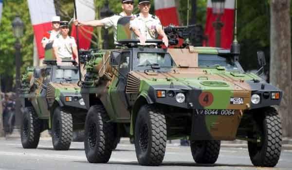 VBL of the 1er REC during the Bastille Day parade