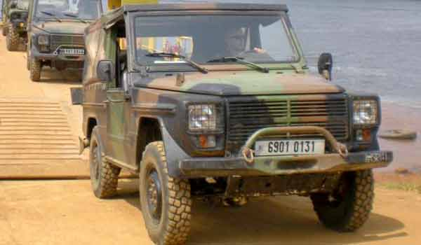 Peugeot P4 of the 1er REG in Gabon