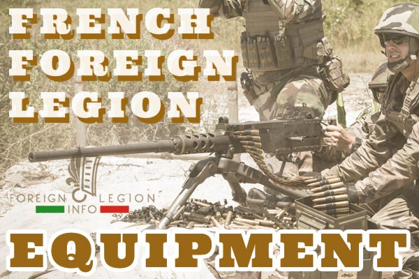 French Foreign Legion Equipment