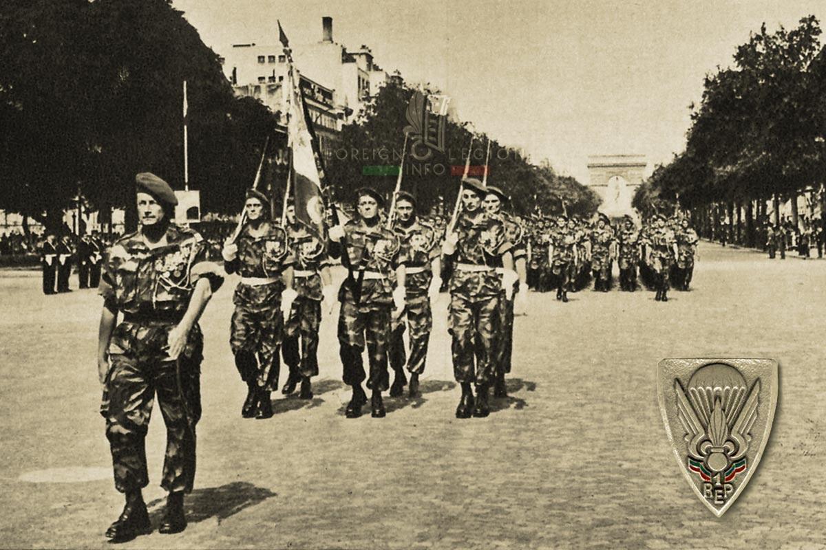 1er REP - 1 REP - Foreign Legion Etrangere - 1957 - Champs-Elysées - Paris