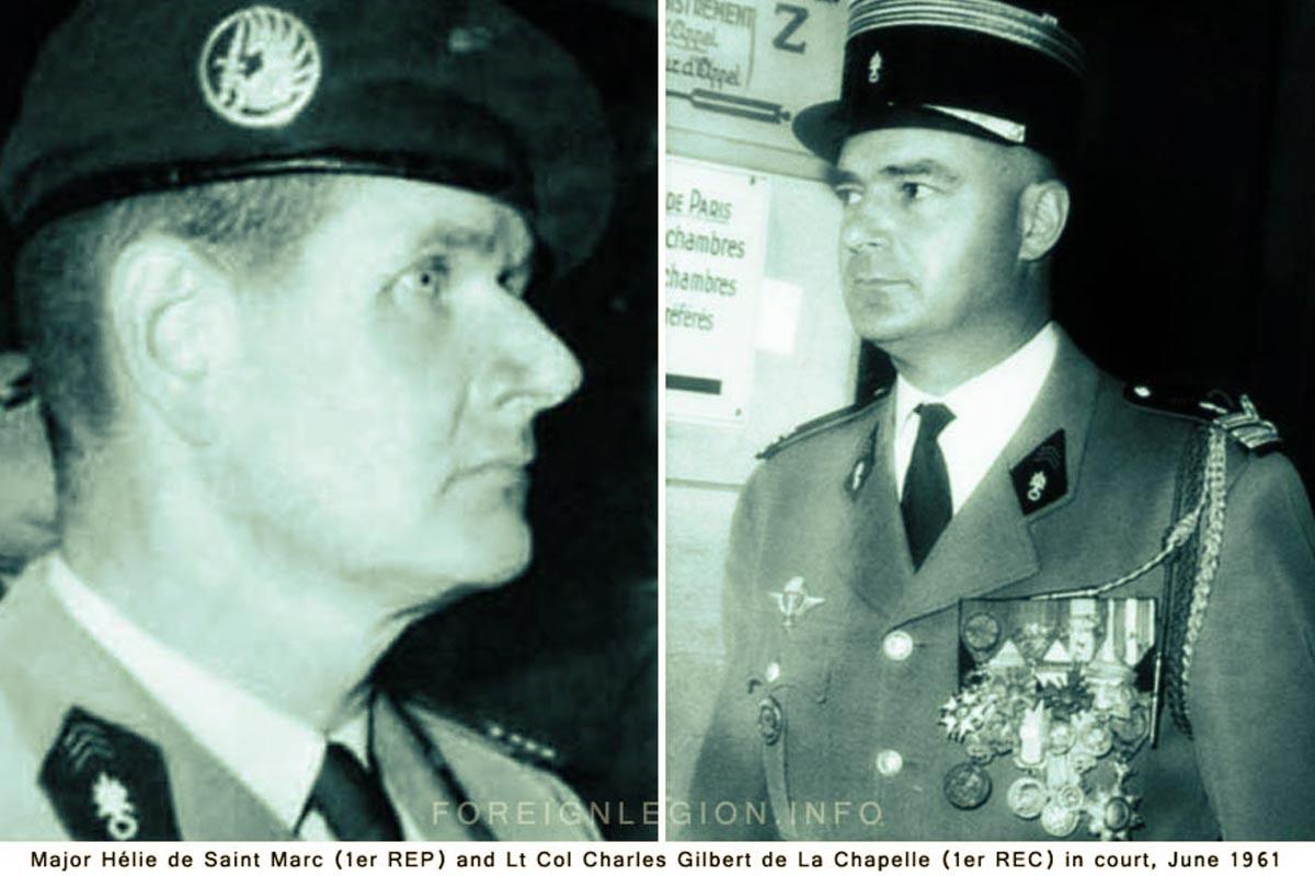 Hélie de Saint Marc - Charles Gilbert de La Chapelle - Foreign Legion Etrangere - 1961 - Generals' putsch in Algiers