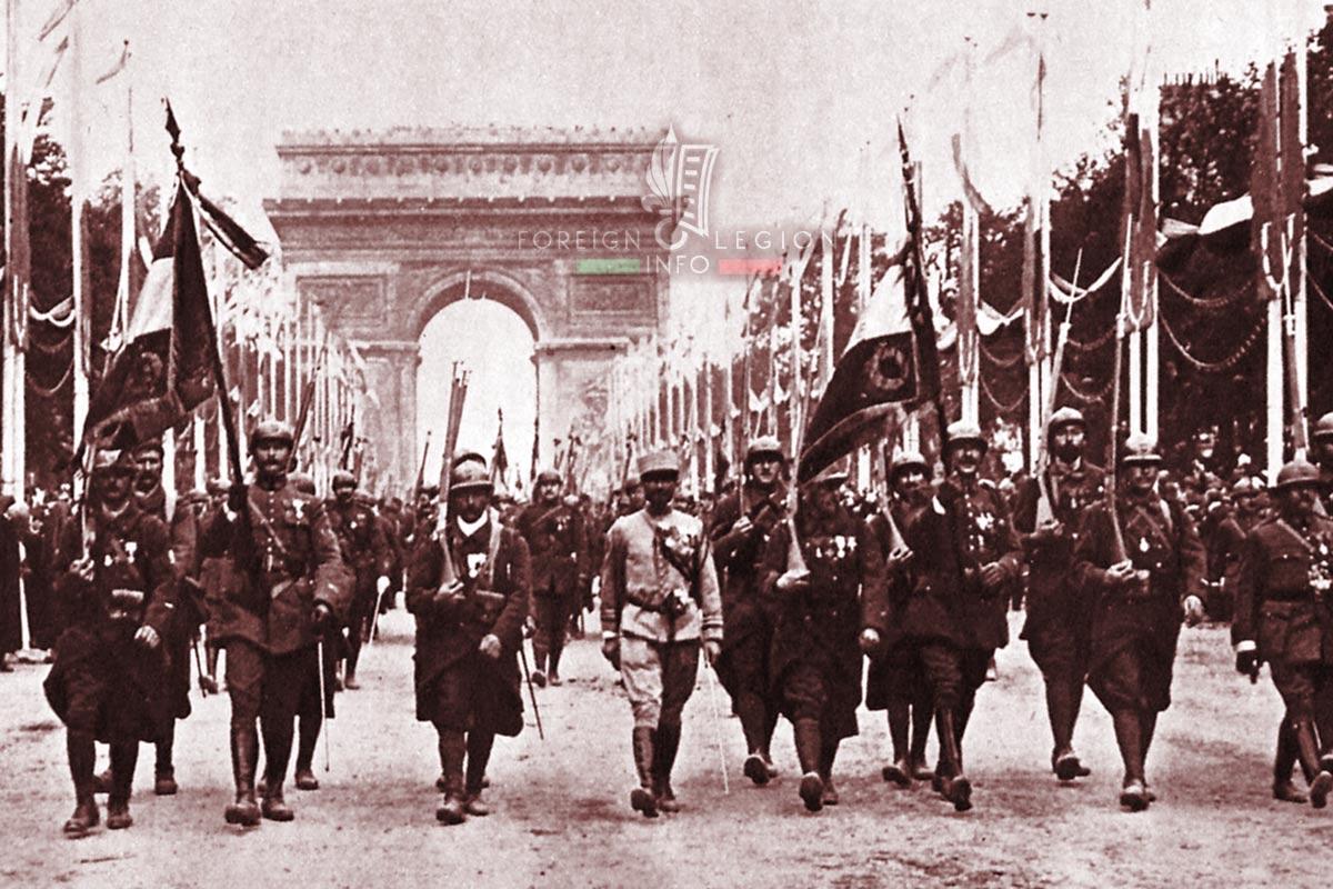 RMLE - Foreign Legion Etrangere - 1919 - Champs-Elysées - Paris