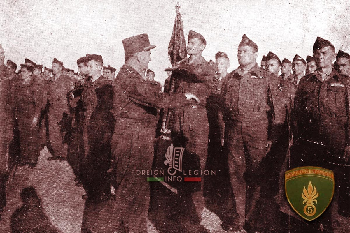 5e REI - 5 REI - 5th Foreign Infantry Regiment - 5th REI - Foreign Legion Etrangere - Repatriated legionnaires - Sidi Bel Abbes - 1947