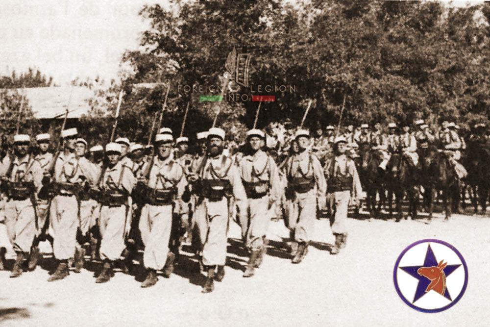 3e REI - 3 REI - Foreign Legion Etrangere - Mounted Company - Montee - 1940 - Fez - Morocco