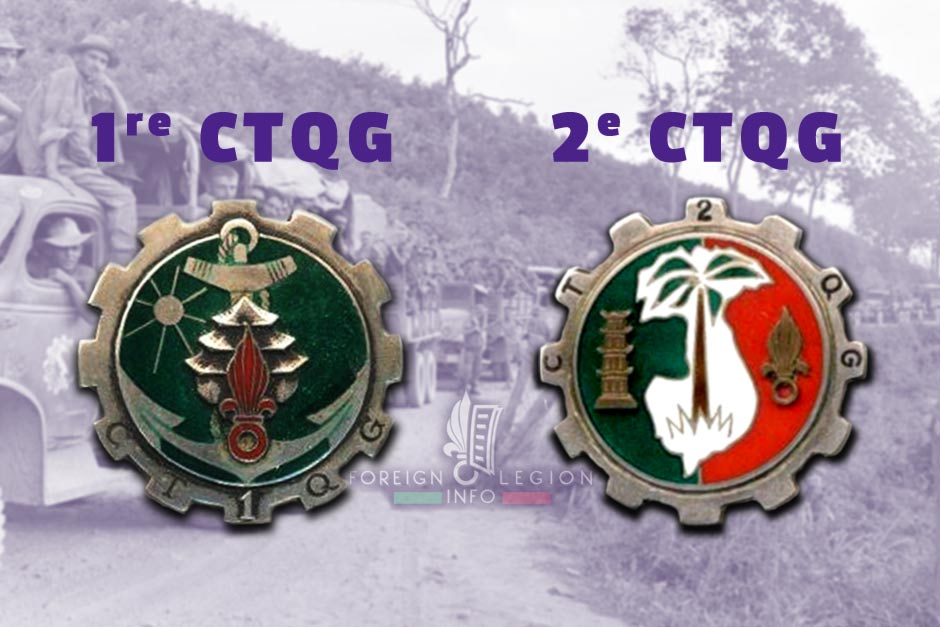1re CTQG + 2e CTQG - 1 CTQG + 2 CTQG - Foreign Legion Etrangere - 1951 - French Indochina