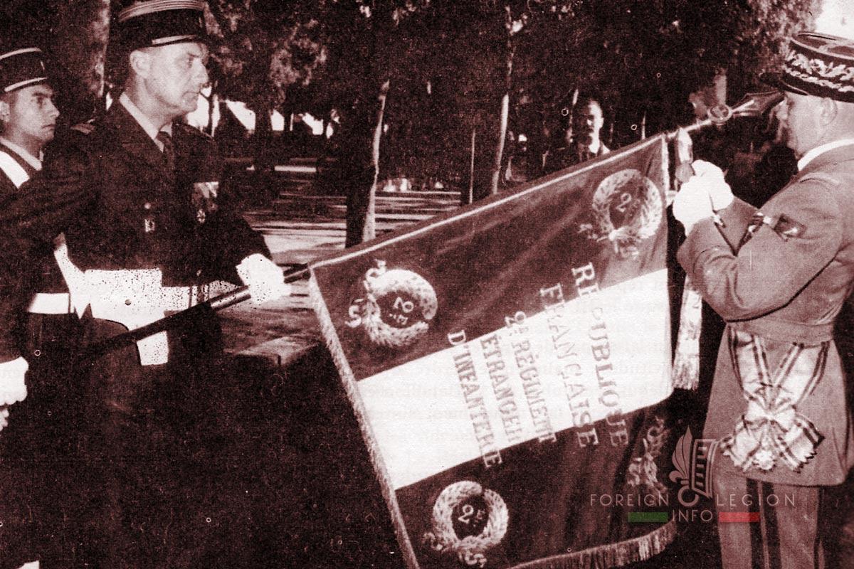 2e REI - 2 REI - Foreign Legion Etrangere - 1955 - Lt Colonel Jacquot - Tunisia