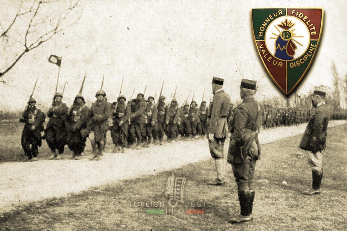 12e REI - 12 REI - Foreign Legion Etrangere - 1940 - France