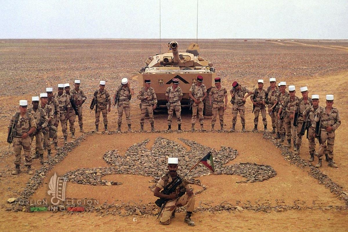 1er REC - 1 REC - Foreign Legion Etrangere - 1991 - Gulf War - Daguet - Iraq