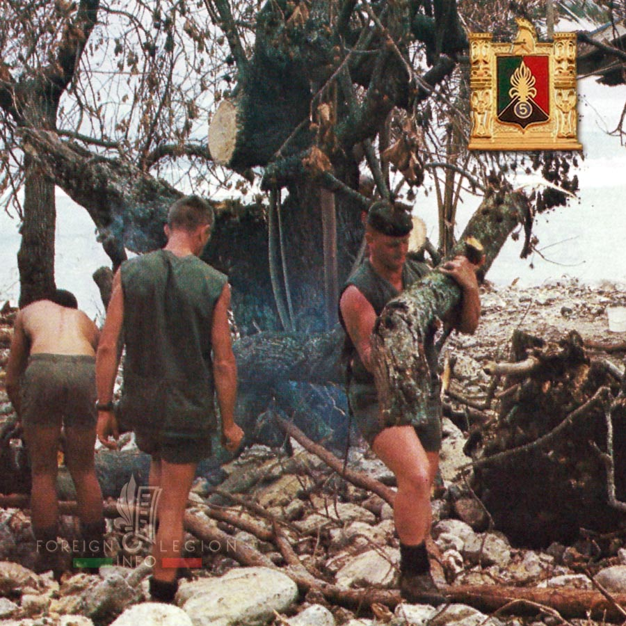 5e RE - 5 RE - Foreign Legion Etrangere - 1987 - Pacific