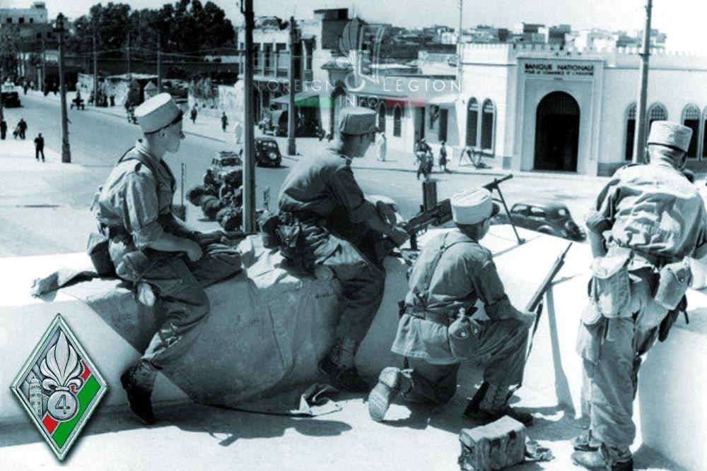 4e REI - 4 REI - Foreign Legion Etrangere - 1955 - Casablanca - Morocco