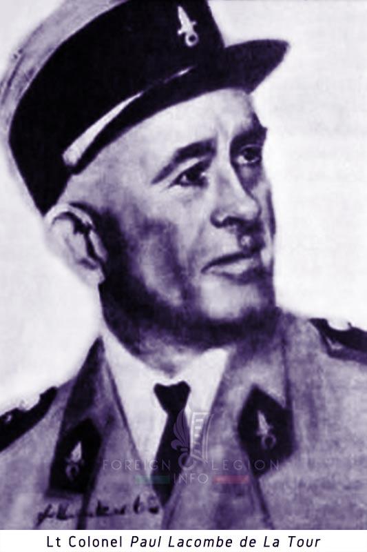 Lieutenant Colonel Paul Lacombe de La Tour - Foreign Legion Etrangere - GRDI 97 - GRD 97 - 1940 - France