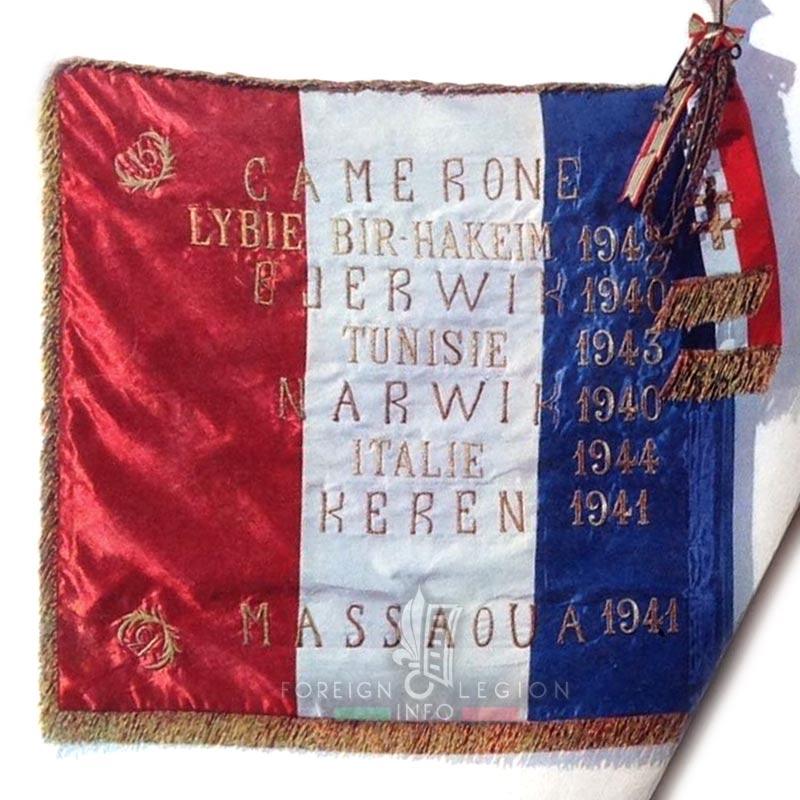 13e DBLE - 13 DBLE - Foreign Legion Etrangere - 1945 - Drapeau - Flag