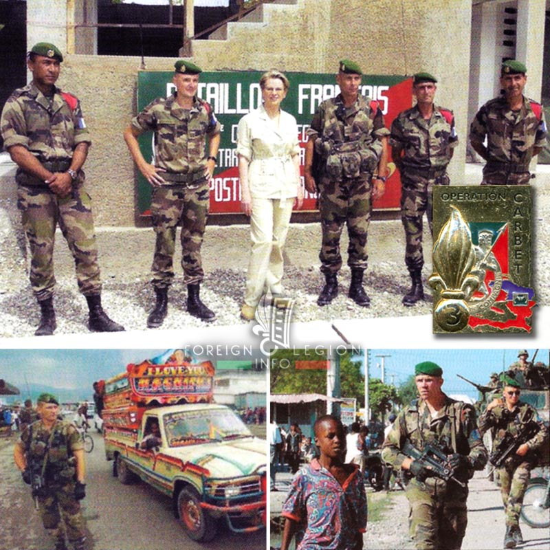 3e REI - 3 REI - Foreign Legion Etrangere - Michele Alliot-Marie - 2004 - Operation Carbet - Haiti