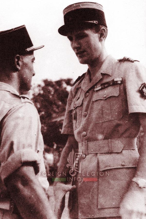 Lt Colonel Gabriel Brunet de Sairigné - 13 dble - Foreign Legion Etrangere - 1948 - Indochina