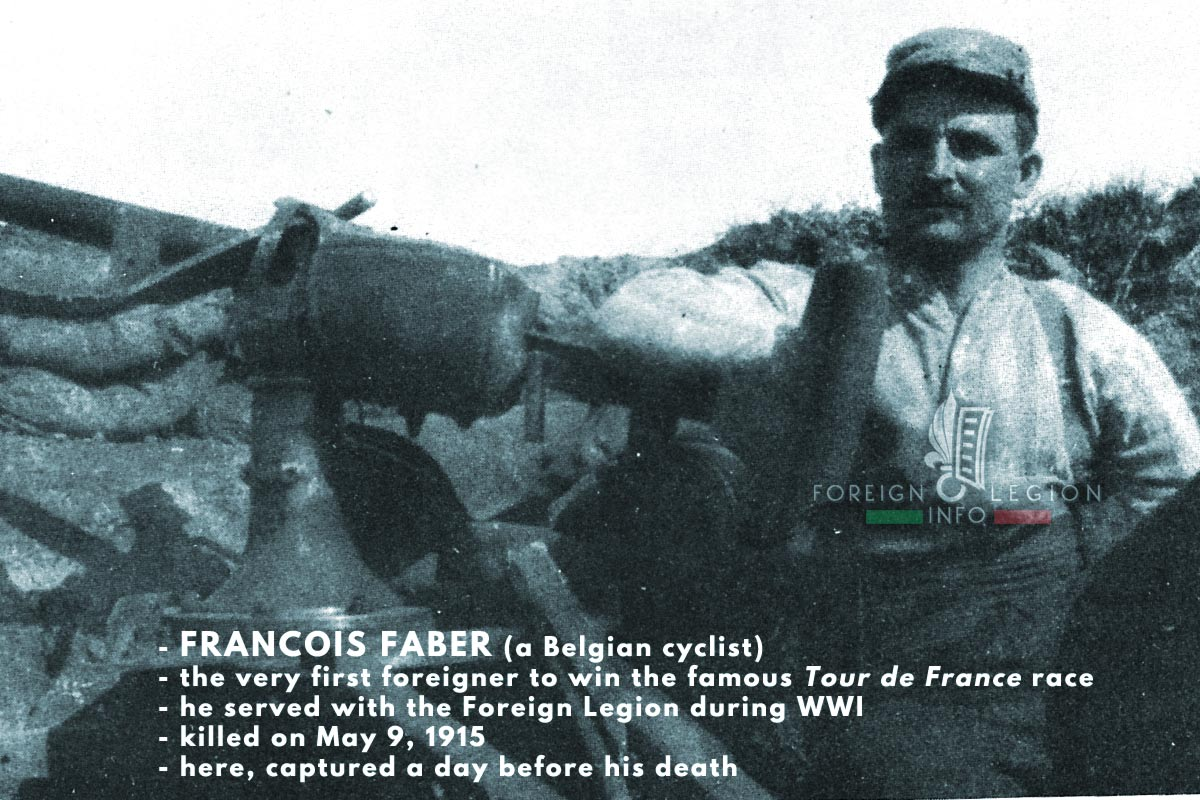 Francois Faber - Foreign Legion Etrangere - 1915 - Artois - France