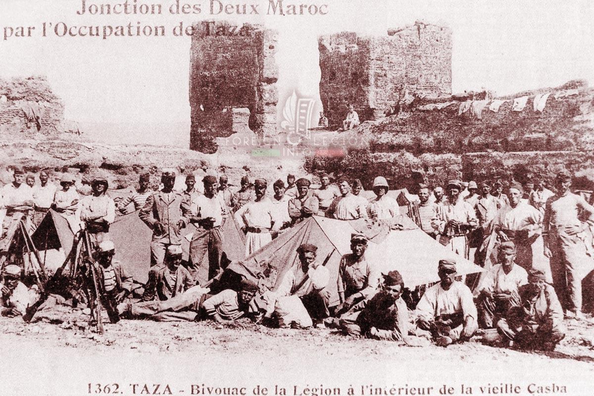 1er RE - 1 RE - Foreign Legion Etrangere - 1914 - Taza - Morocco