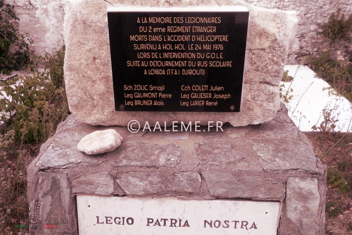 GOLE - Foreign Legion Etrangere - 1976 - Memorial - Bonifacio