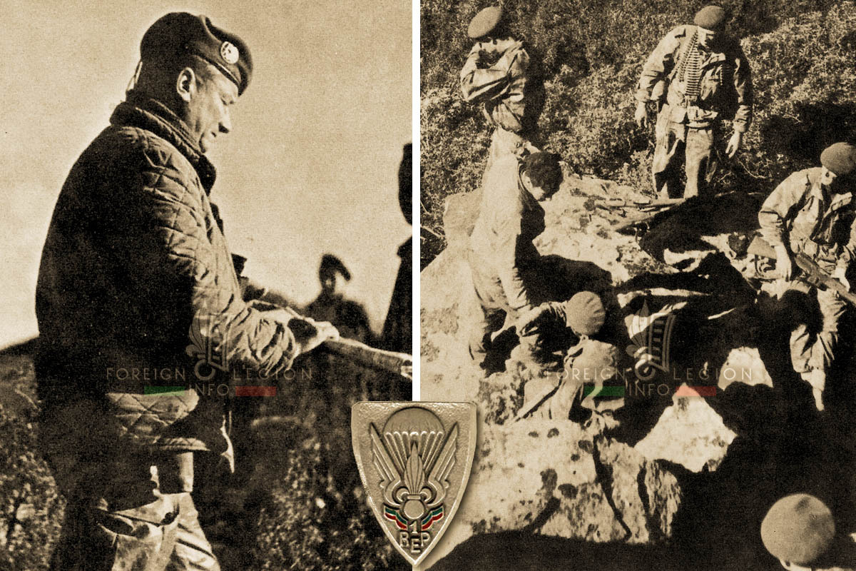 1er REP - 1 REP - Foreign Legion Etrangere - 1958 - Algeria - Lt Colonel Jeanpierre