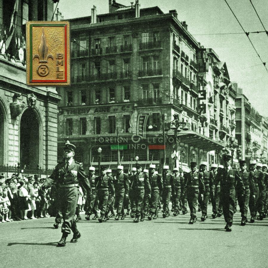 3e BMLE - 3 BMLE - Foreign Legion Etrangere - 1963 - Marseille