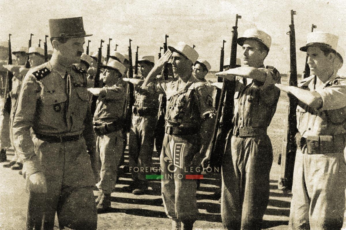 General Leclerc - Philippe Leclerc de Hauteclocque - Foreign Legion Etrangere - 1946 - 13e DBLE - 13 DBLE