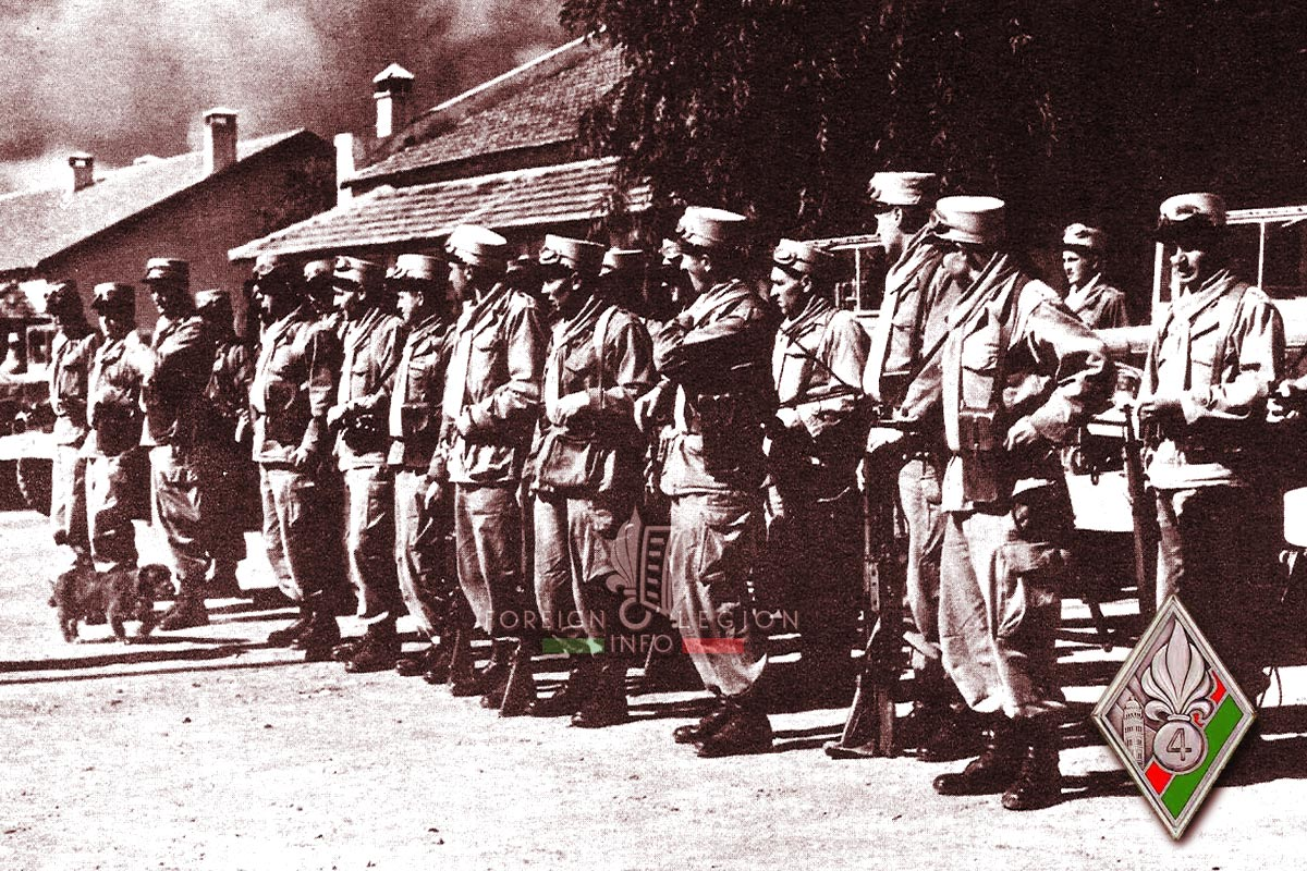 4e REI - 4 REI - Foreign Legion Etrangere - 1955 - Morocco