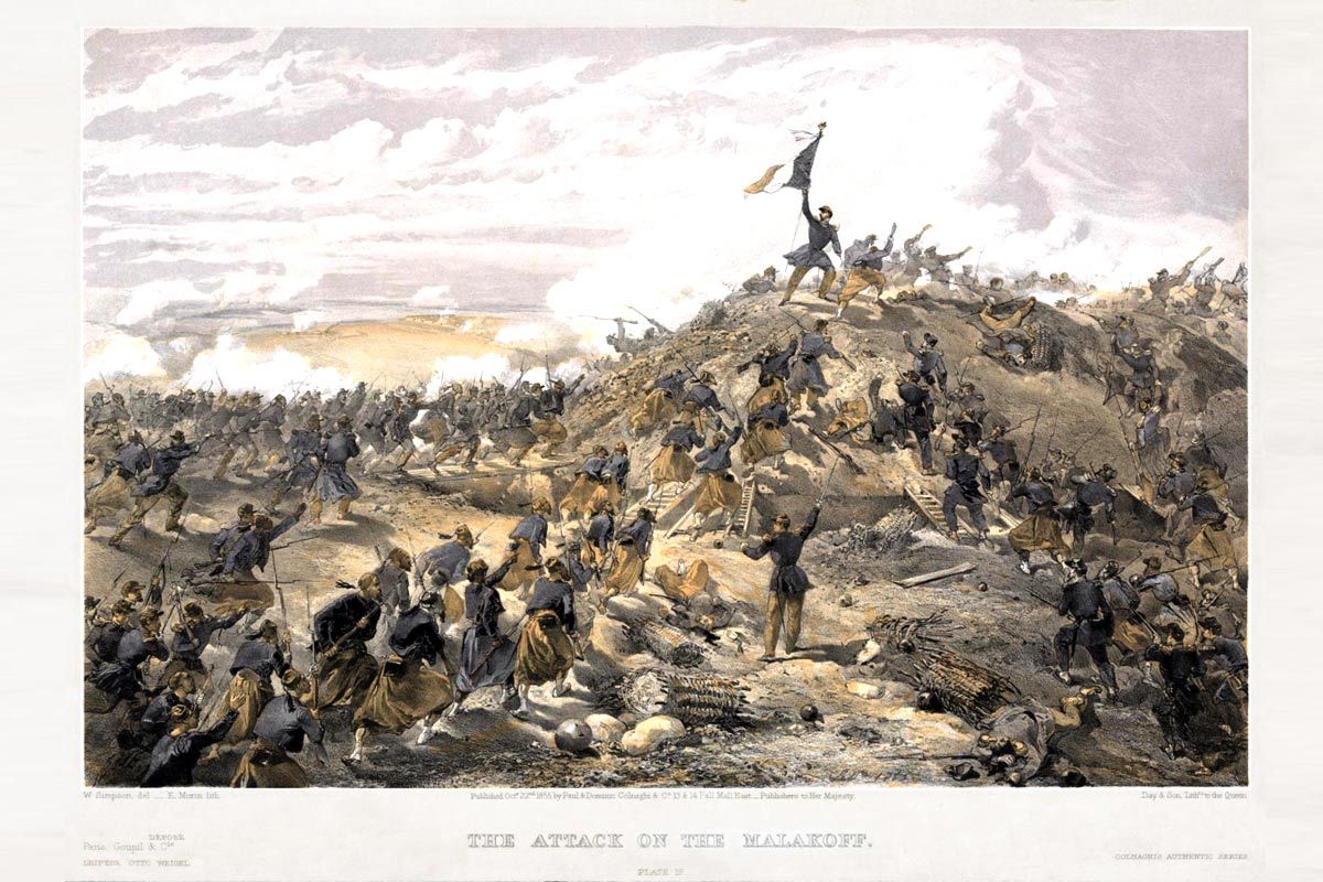 Crimea - Foreign Legion Etrangere - Attack on the Malakoff - 1855 - William Simpson