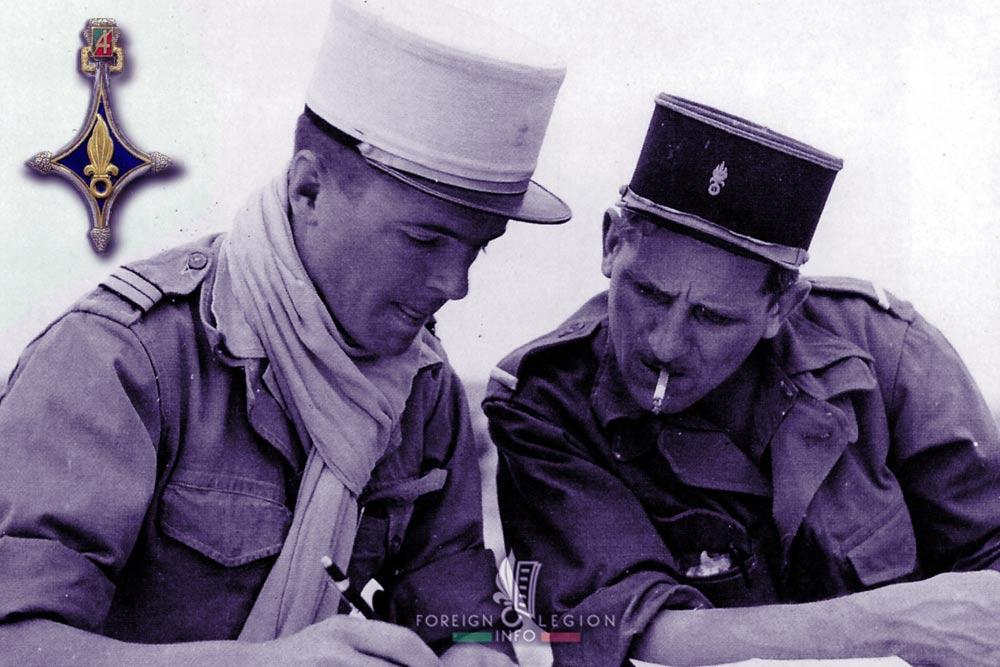4e CSPL - 4 CSPL - Foreign Legion Etrangere - Lieutenant Jean Cailleux - 1956