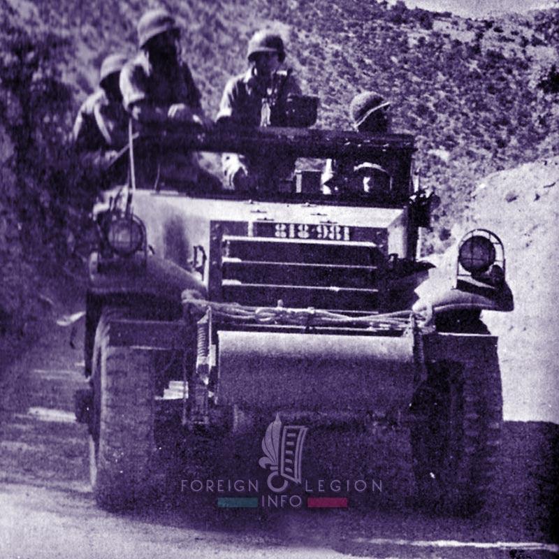 3e REI - 3 REI - Foreign Legion Etrangere - M3 Scout car - Algeria 1955