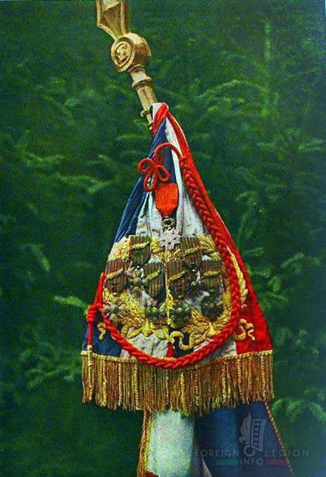 RMLE - standard - flag - drapeau - Foreign Legion Etrangere - 1918
