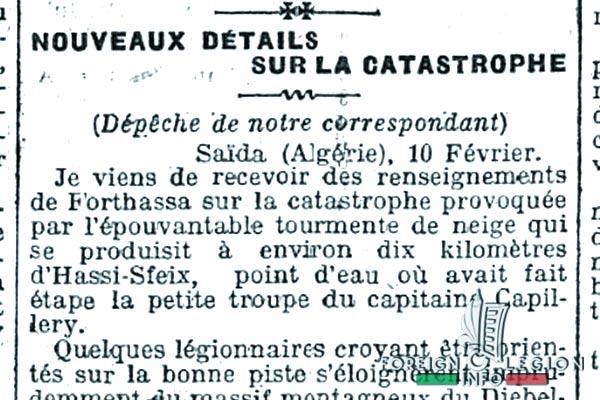 Forthassa Gharbia - Algerie - Tragedie de 1908