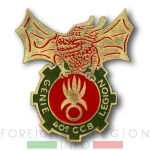 40e CCB - 40 CCB - Dump Truck Company - Insignia - Badge - Indochina - 1947