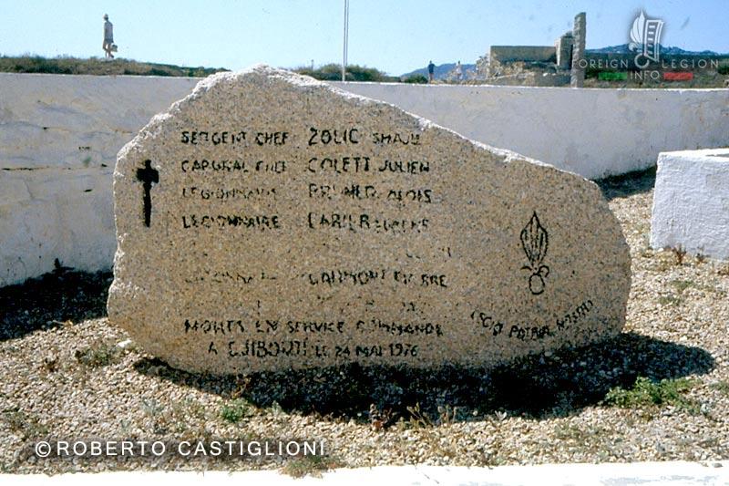 GOLE - Accident - TFAI - Djibouti - 1976 - Memorial Stone - Bonifacio - 1979