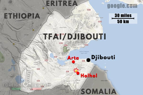 2e REI - 2 REI - Foreign Legion etrangere - Djibouti - TFAI - GOLE - Accident - 1976 - Map