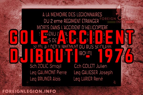 Djibouti - Foreign Legion etrangere - GOLE - Accident - 1976