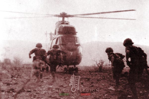 2e REI - 2 REI - Foreign Legion etrangere - Djibouti - TFAI - GOLE - Helicopter - PUMA - 1976 - Map