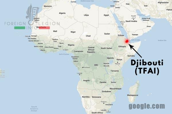 Afrique - Djibouti - TFAI - carte