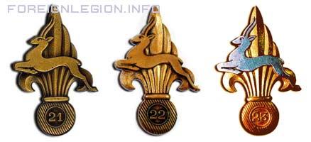 GPLEA - 21 CPLE - 22 CPLE - 23 CPLE - 21e CPLE - 22e CPLE - 23e CPLE - VI/1er RE - insigne - insignia - Compagnie Portée - Legion etrangere