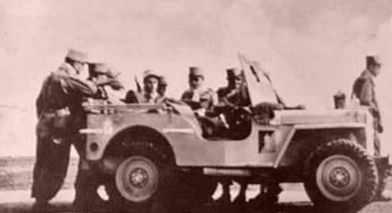 A GPLEM commander's jeep 1955
