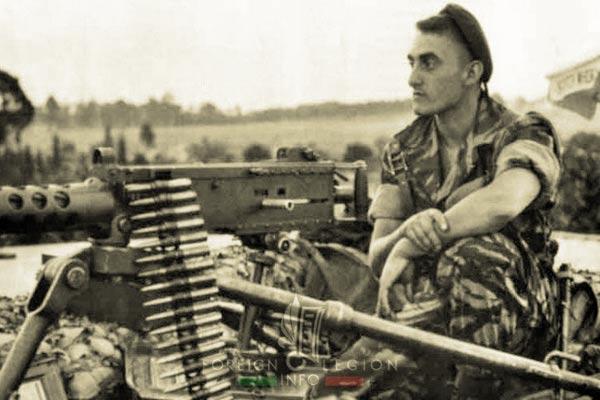 2 REP - Battle of Kolwezi - 1978 - Kolwezi - Legionnaire - M2 Browning